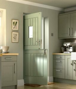 Classic colours are available such as in this timber stable door.