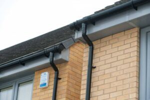 soffits and fascias in a new build home.