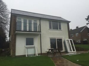 Render can look dated, stained and tired over time. PVCu cladding can overcome this.
