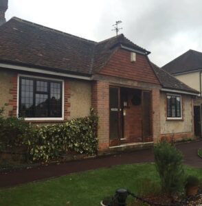 In this older detached bungalow we provided the latest black powder coated aluminium windows.