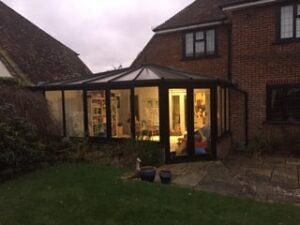 conservatory before being replaced by lvinroom orangery