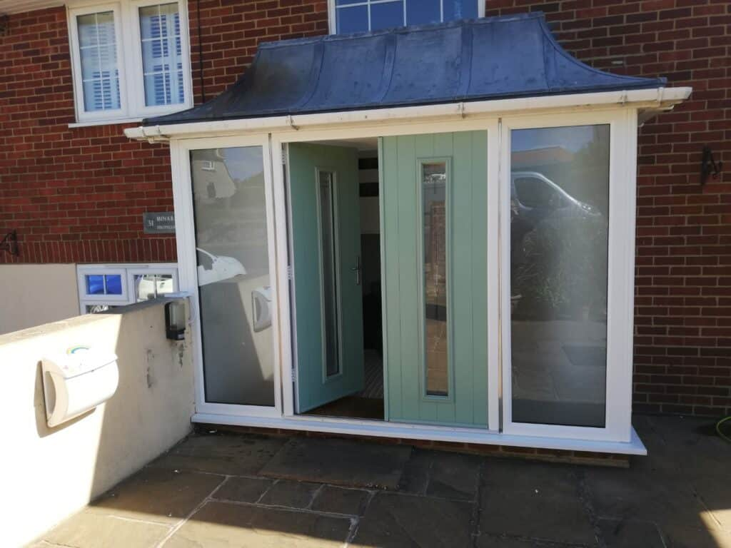 Solidor French doors in Bexhill home
