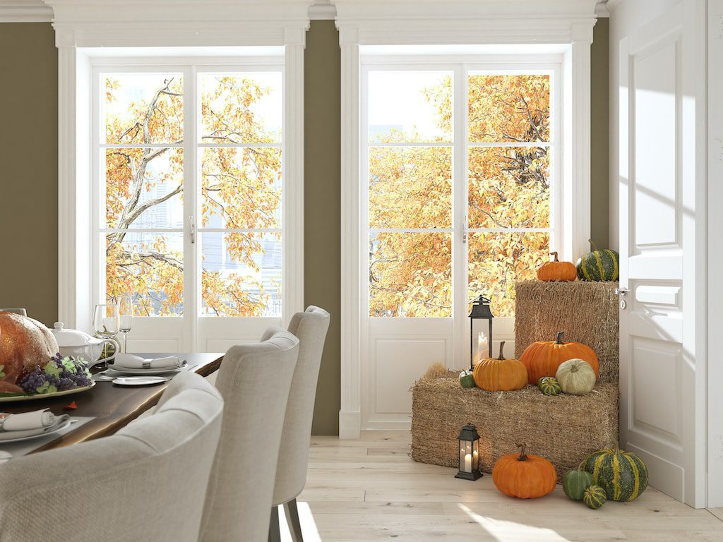 White traditional french doors