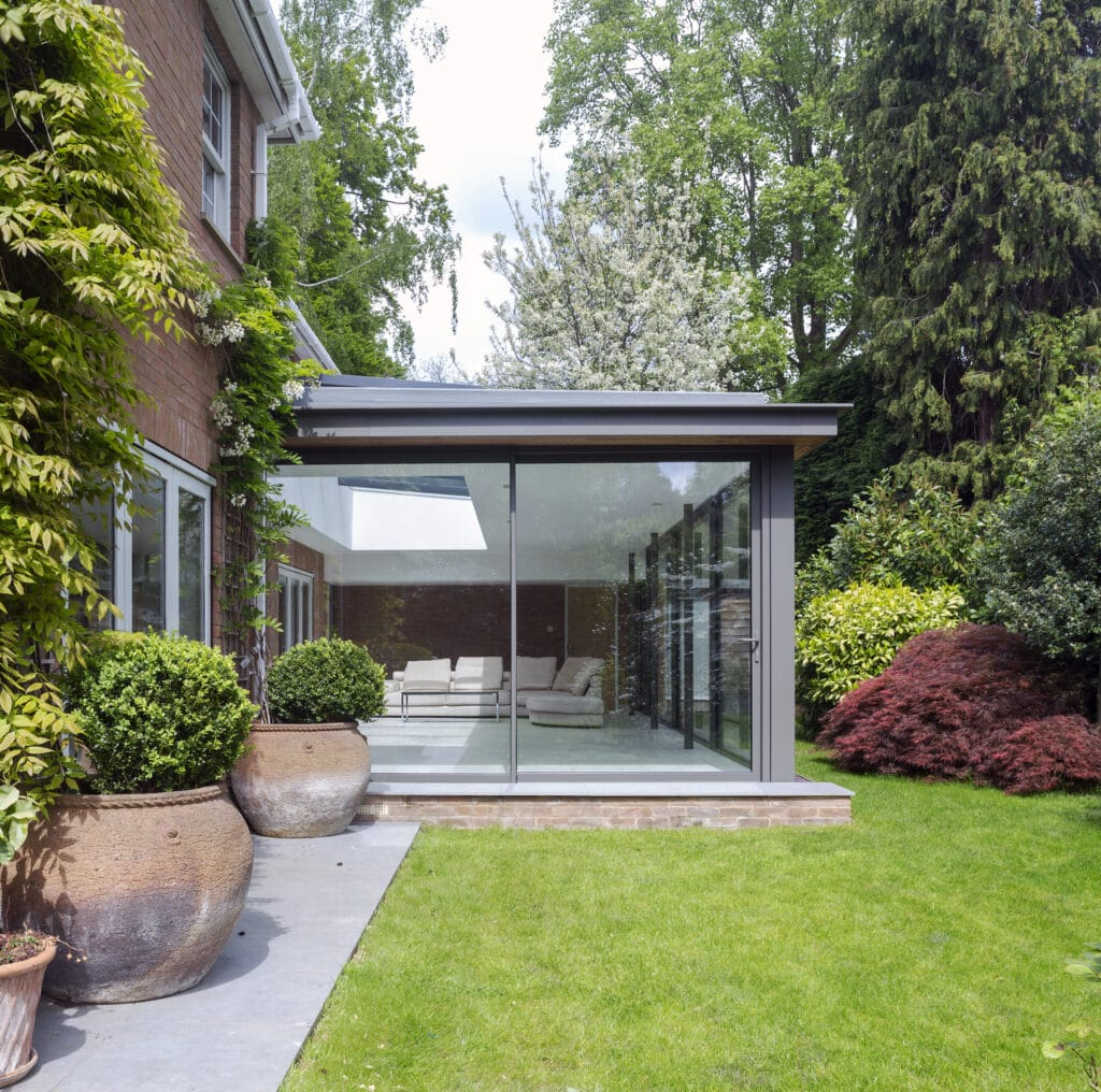 Visoglide branded sliding patio doors in a new extension