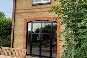steel-replacement doors and windows in a kent house